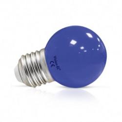 Ampoule LED sphérique E27 G45 1W bleue