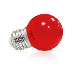Ampoule LED sphérique E27 G45 1W rouge