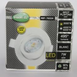 Spot LED orientable 7W 3000K 4000K 6000K