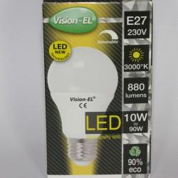 Ampoule LED E27 dimmable 10W 3000 Kelvin blanc chaud