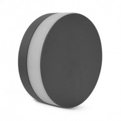 Applique murale LED rond anthracite 10W 4000 Kelvin IP54