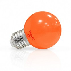 Ampoule LED sphérique E27 G45 1W orange