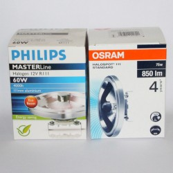 OSRAM replaces PHILIPS MASTERLine 111 G53 60W 12V 8D