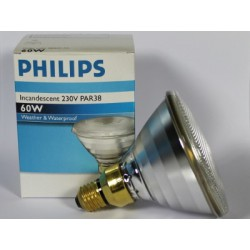 PHILIPS INCANDESCENT PAR38 60W 230V FLOOD 30°