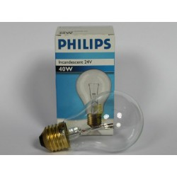 e PHILIPS CLASSIC 24V 40W A60 E27 CL PHILIPS INCADESCENT