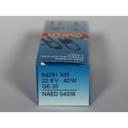 Ampoule OSRAM 64291 XIR 22,8V 400W G6.35 NAED 54318