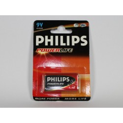 Battery 6LR61 9V PHILIPS POWERLIFE