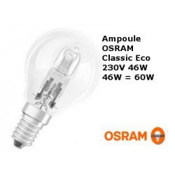 Ampoule sphérique OSRAM Classic Eco 46W E14