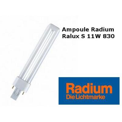 ampoule radium rx s 11w 830 g23 ralux s 11w 830. Black Bedroom Furniture Sets. Home Design Ideas