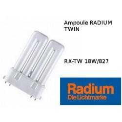 Ampoule fluocompacte Radium Ralux TW 18W/827