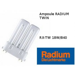 Ampoule fluocompacte Radium Ralux TW 18W/840
