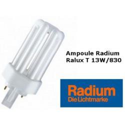 Ampoule fluocompacte Radium Ralux trio 13W/830