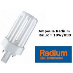Ampoule fluocompacte Radium Ralux trio 18W/830