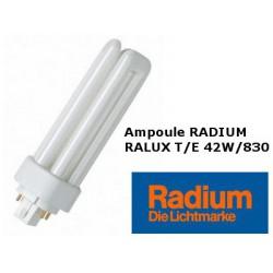 Ampoule fluocompacte Radium Ralux trio/E 42W/830