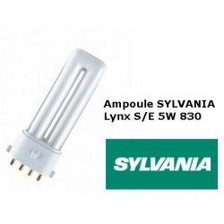 Ampoule fluocompacte SYLVANIA Lynx SE 5W/830