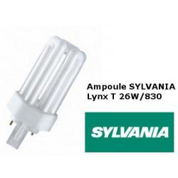 Ampoule fluocompacte SYLVANIA Lynx T 26W 830