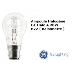 28W HALO A CL B22 240V BAIONNETTE GE LIGHTING