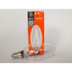 Bulb flame E14 25W clear