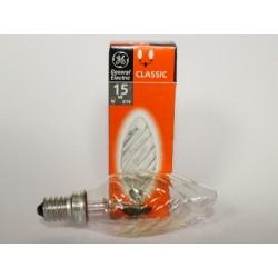 Ampoule flamme E14 15W torsadée