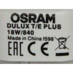 Bulb OSRAM DULUX T/E 18W/840