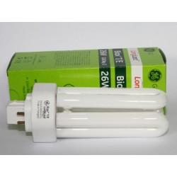 Ampoule fluocompacte GE Biax T/E 26W/830/4P