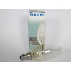 Bulb flame PHILIPS E14 40W clear